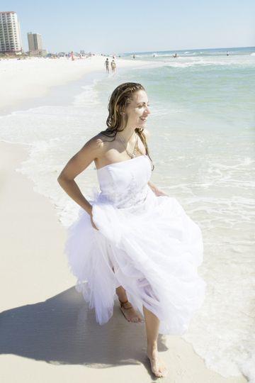 beach wedding videography photograph