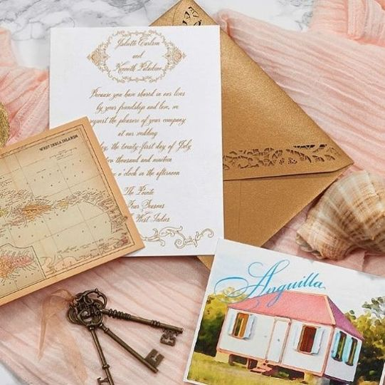 Gold and white themed invitation