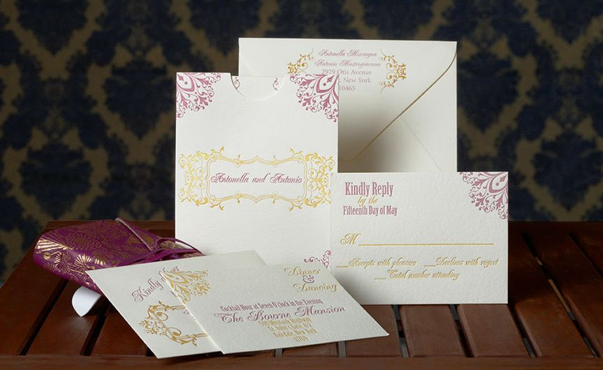 Elegant patterns on invitation