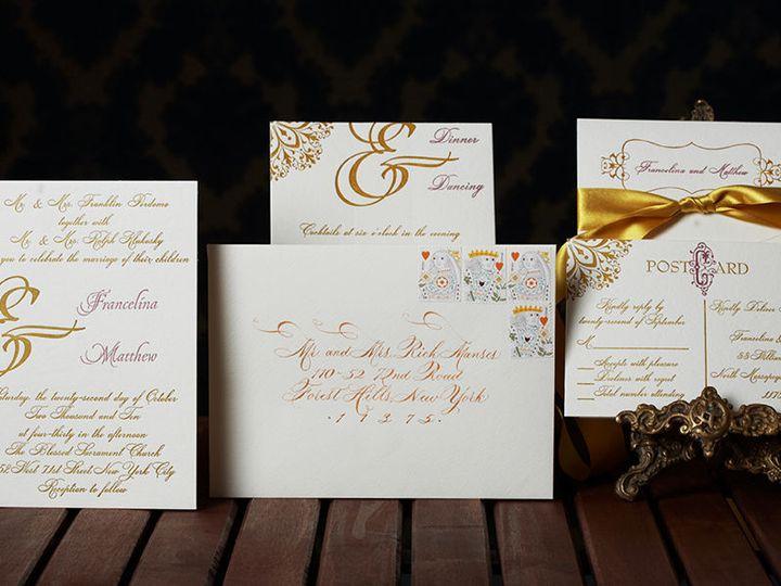 Tmx 1536233310 C59386f2ce35ae15 1536233309 A9e97b10c9dad957 1536233308684 1 Petite Fete 0145do Kew Gardens, NY wedding invitation