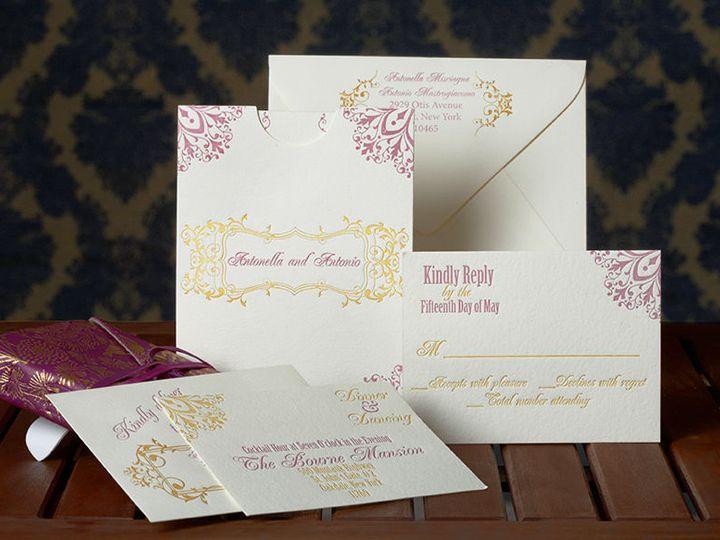 Tmx 1536233330 0d1d4cd36a0138b8 1536233329 C623973e8a2cd1b1 1536233329648 2 Petite Fete 0165do Kew Gardens, NY wedding invitation