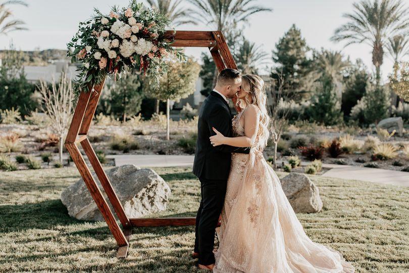 Wedding ceremony, spa garden
