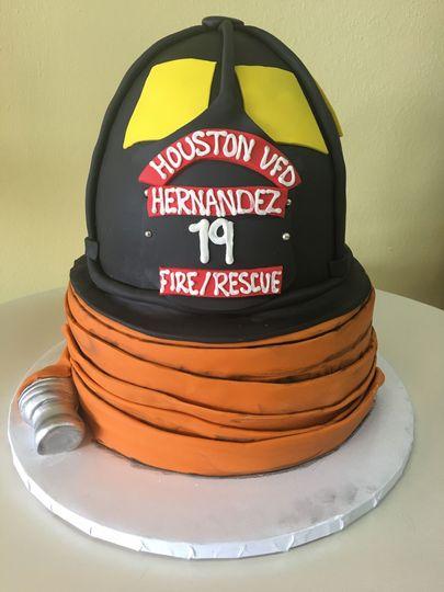 Fire grooms cake