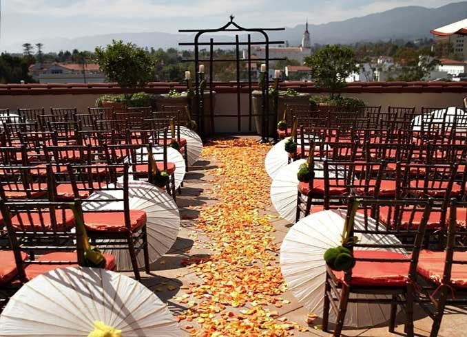Rooftop wedding venue