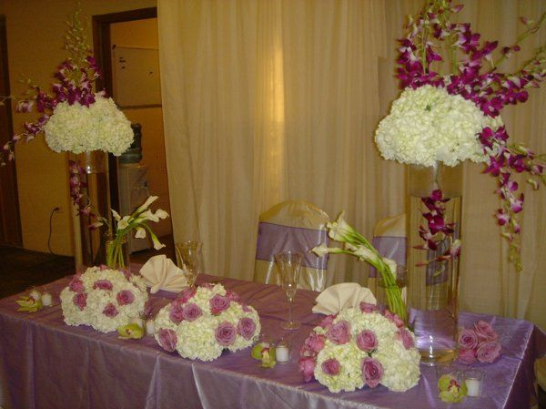 Floral decoration setup