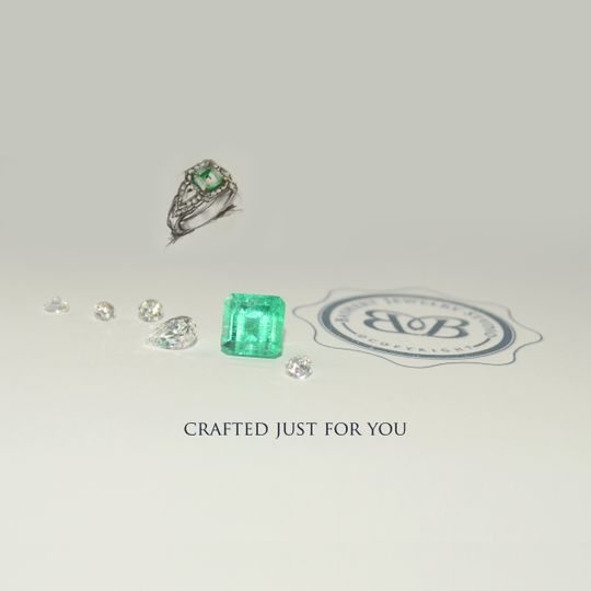 Crafted Just For You! Custom Engagement Ring, Wedding Bands and fine Jewelry. If you can imagine it...