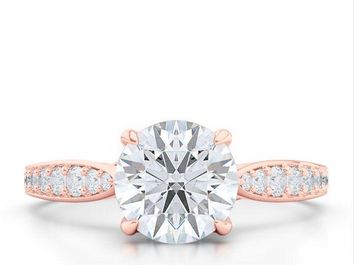 Tmx 1438386035389 Custom Solitaire Ribbon Hearts Engagement Ring In  Boca Raton wedding jewelry