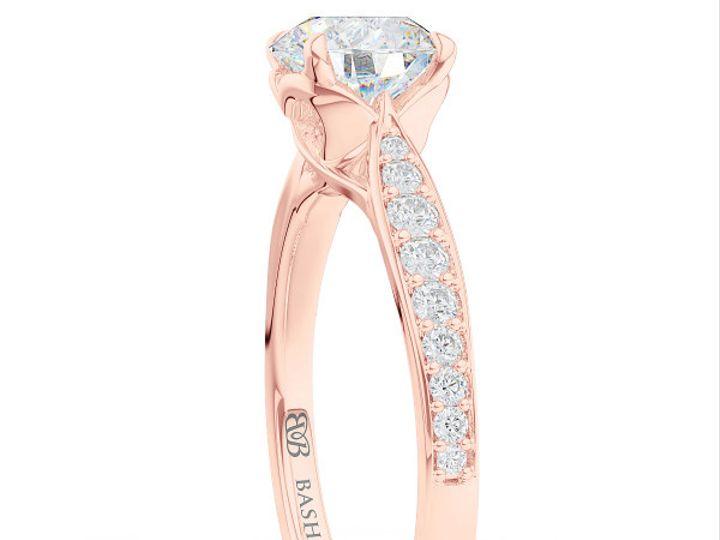 Tmx 1438386038316 Custom Solitaire Ribbon Hearts Engagement Ring In  Boca Raton wedding jewelry