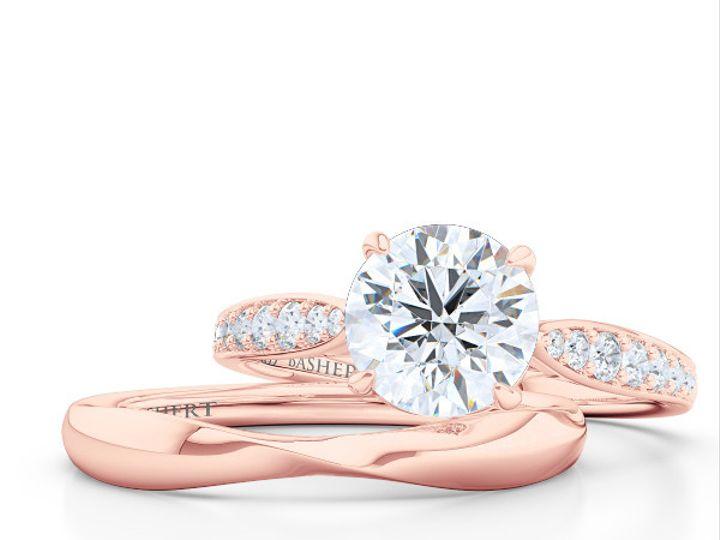 Tmx 1438386040878 Custom Solitaire Ribbon Hearts Engagement Ring In  Boca Raton wedding jewelry