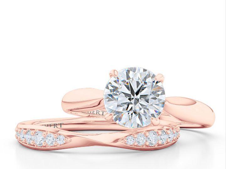 Tmx 1438386047795 Custom Solitaire Ribbon Hearts Engagement Ring In  Boca Raton wedding jewelry