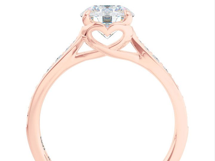 Tmx 1438386050639 Custom Solitaire Ribbon Hearts Engagement Ring In  Boca Raton wedding jewelry