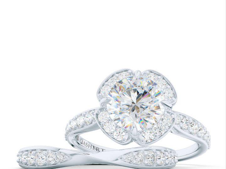 Tmx 1438386053857 Custom Solitaire Ribbon Hearts Engagement Ring In  Boca Raton wedding jewelry