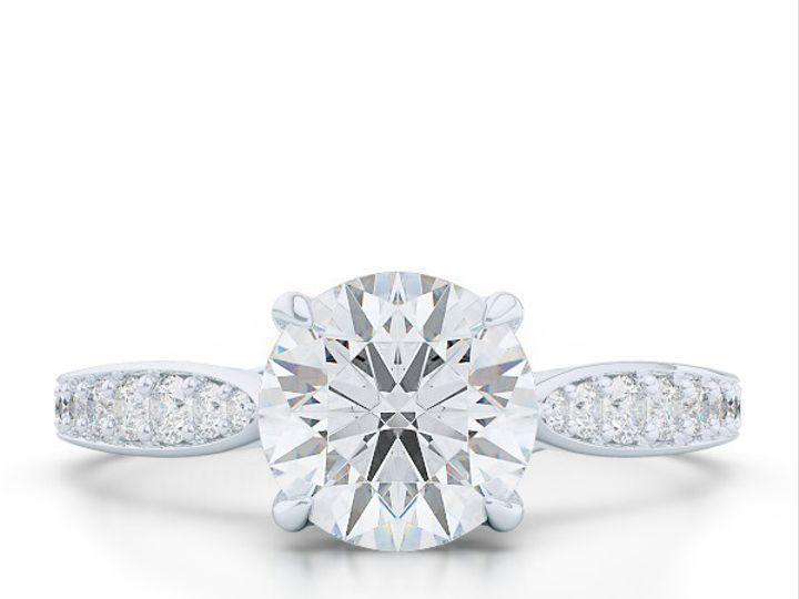 Tmx 1438386060383 Custom Solitaire Ribbon Hearts Engagement Ring In  Boca Raton wedding jewelry