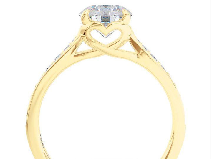 Tmx 1438386063285 Custom Solitaire Ribbon Hearts Engagement Ring In  Boca Raton wedding jewelry