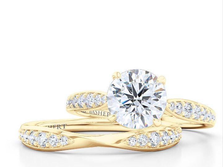Tmx 1438386066952 Custom Solitaire Ribbon Hearts Engagement Ring In  Boca Raton wedding jewelry
