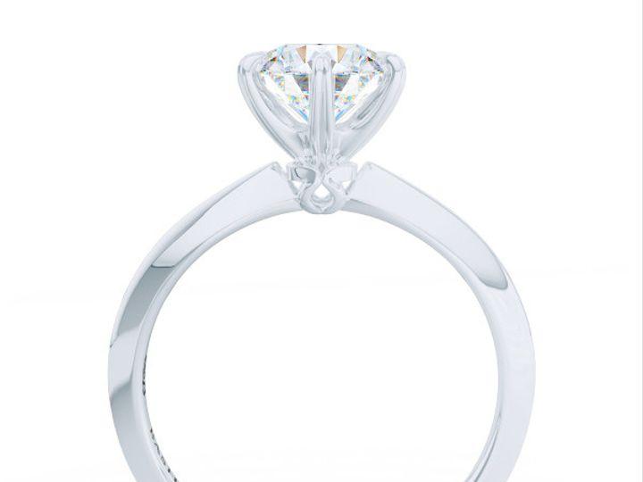 Tmx 1438895390673 Bashert Jewelry. Evening Star. Classic Six Prong S Boca Raton wedding jewelry