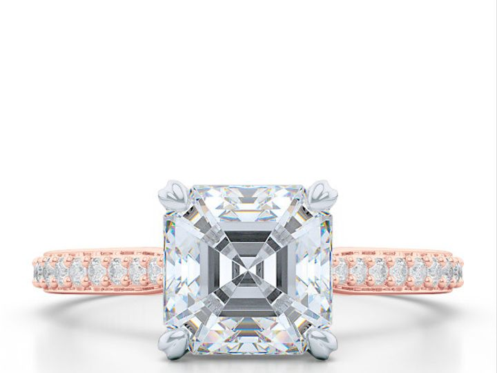 Tmx 1438895787336 Classic Asscher Cut Solitaire Engagement Ring In R Boca Raton wedding jewelry