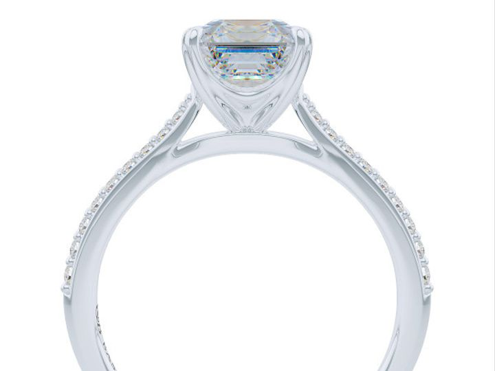 Tmx 1438895794970 Classic Asscher Cut Solitaire Engagement Ring In W Boca Raton wedding jewelry