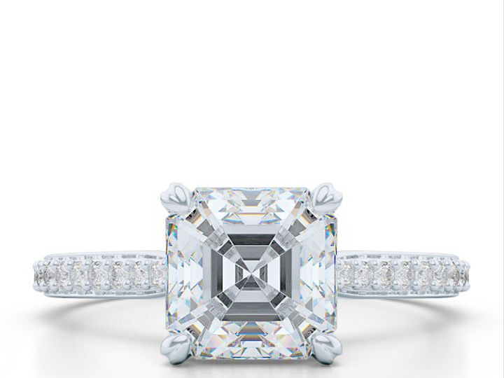 Tmx 1438895797744 Classic Asscher Cut Solitaire Engagement Ring In W Boca Raton wedding jewelry
