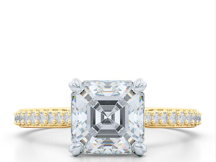 Tmx 1438895806921 Classic Asscher Cut Solitaire Engagement Ring In Y Boca Raton wedding jewelry
