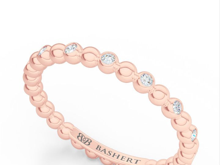 Tmx 1439414417647 Diamond Eternity Wedding Band In Rose Gold. Bezel  Boca Raton wedding jewelry
