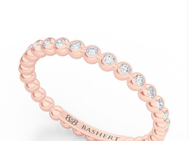 Tmx 1439414472227 Diamond Eternity Wedding Band In Rose Gold. Bezel  Boca Raton wedding jewelry