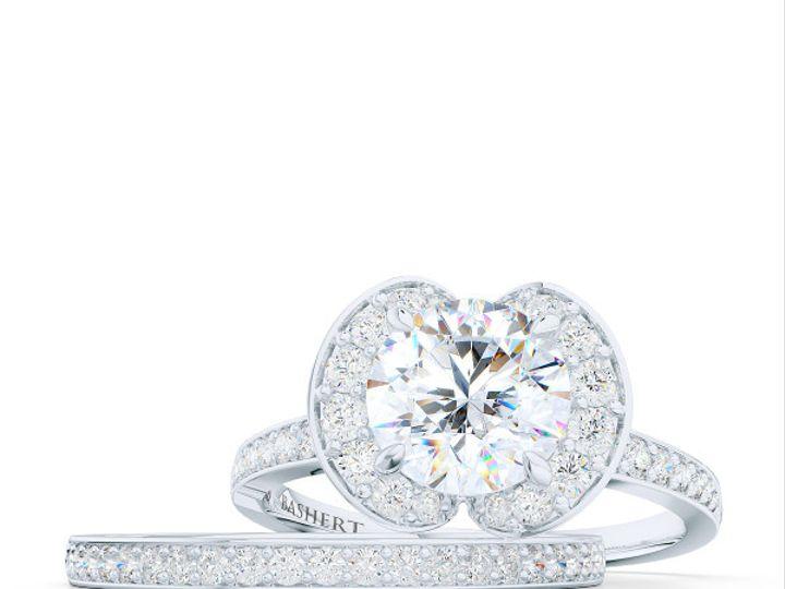 Tmx 1439823732458 Bashertjewelrycustomhaloengagementringinwhitegoldp Boca Raton wedding jewelry