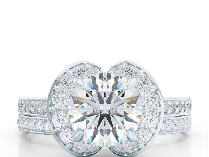 Tmx 1439823735025 Bashertjewelrycustomhaloengagementringinwhitegoldp Boca Raton wedding jewelry