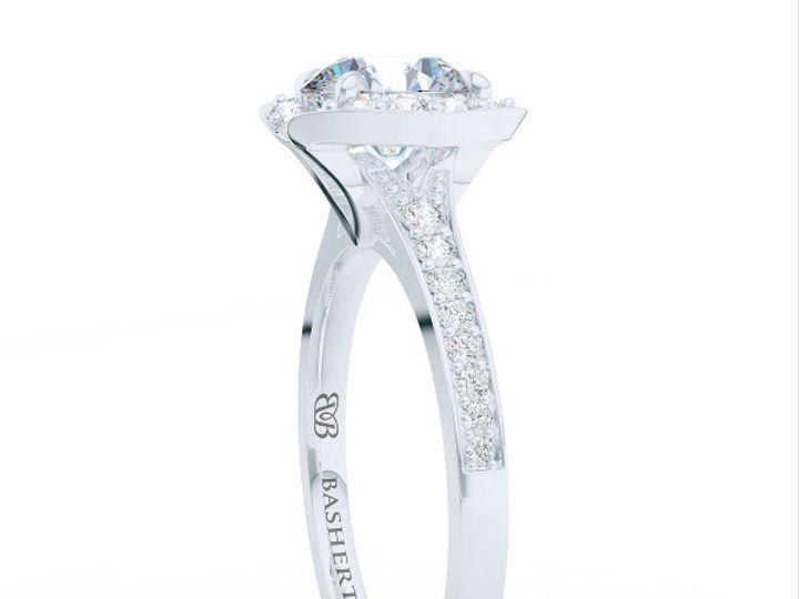 Tmx 1439823909488 Bashertjewelrycustomhaloengagementringinwhitegoldp Boca Raton wedding jewelry