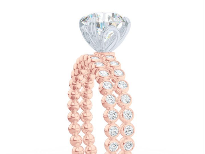 Tmx 1440517733507 Diamond Eternity Wedding Band In Rose Gold. Bezel  Boca Raton wedding jewelry