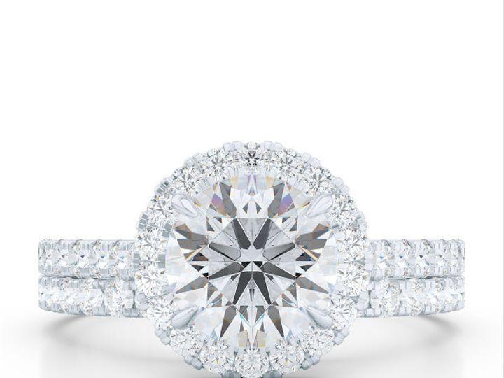 Tmx 1440627267177 Bashert Jewelry. Custom Classic Diamond Encrusted  Boca Raton wedding jewelry