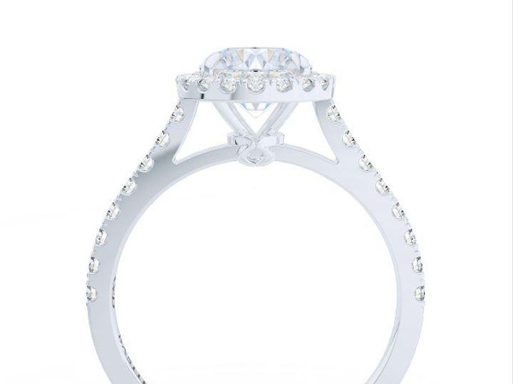 Tmx 1440627531168 Bashert Jewelry. Classic Halo Engagement Ring In P Boca Raton wedding jewelry