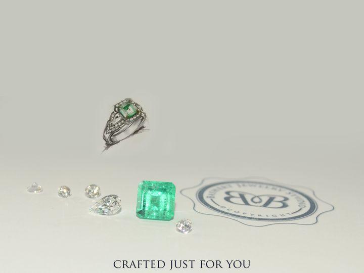 Tmx 1445037328219 Emerald Three Stone Custom Ring Boca Raton wedding jewelry