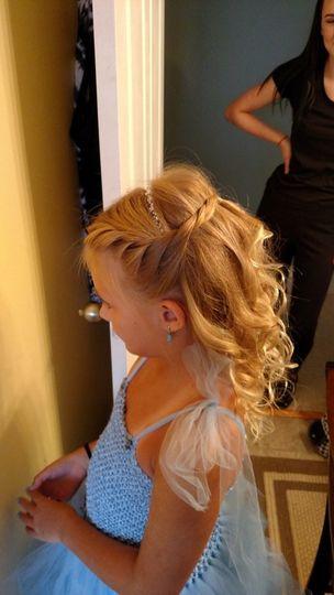 Little girl hair styling