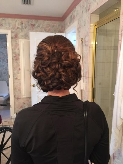 Curled updo