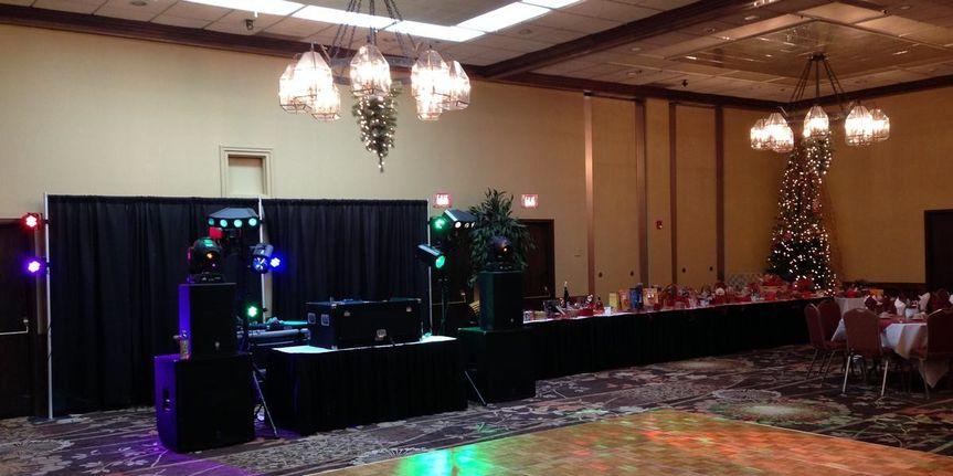 Reception area set-up