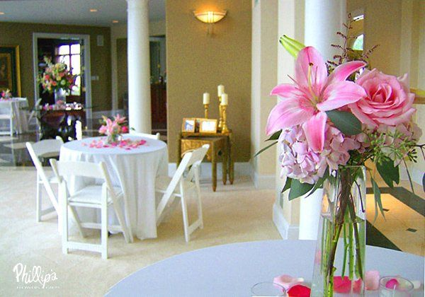 Wedding flowers and reception decorations