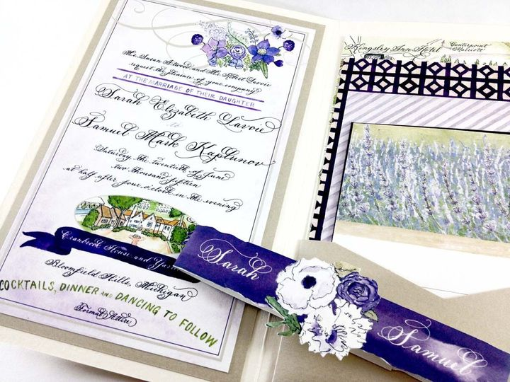 Tmx 1433735018380 Sarah Lavoie Invite1 Farmington, MI wedding invitation