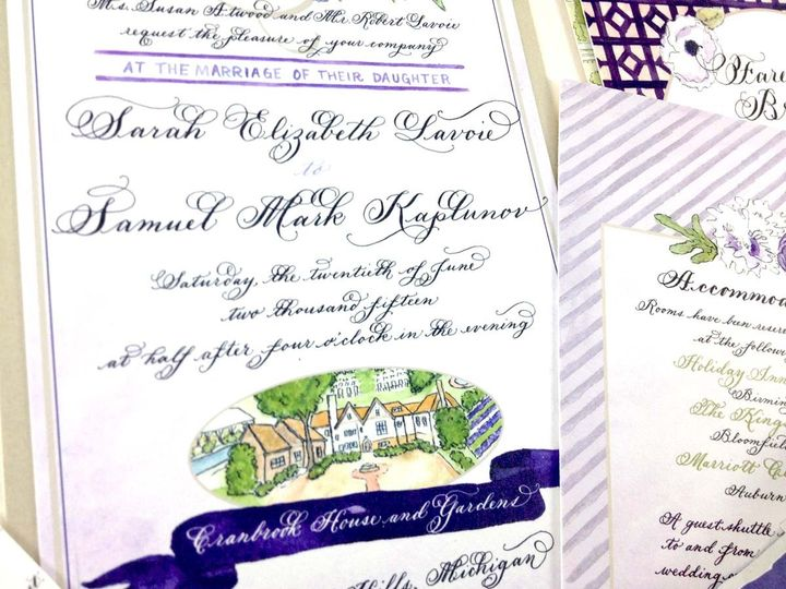 Tmx 1433735027799 Sarah Lavoie Invite4 Farmington, MI wedding invitation