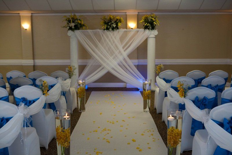 Ceremony decor and setup