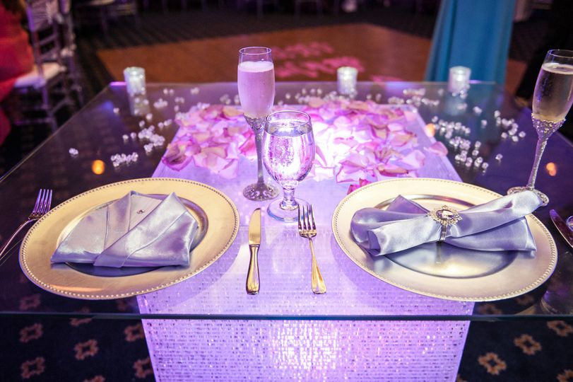 Newlyweds' table
