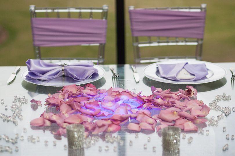 Newlyweds' table setting