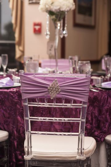 Reception chair and table