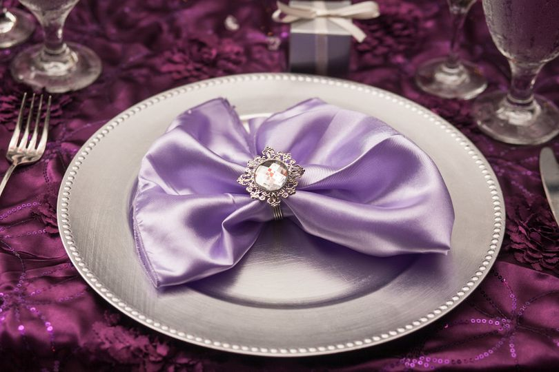Table napkin in a ring
