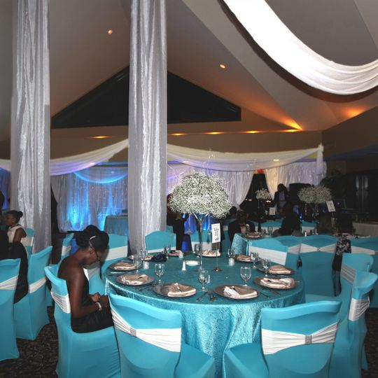 Draping, decor, lighting