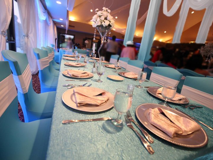 Tmx 1405405473566 Table Low Anglewith Blured Peole Orlando, Florida wedding rental