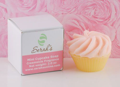 Mini Pink Cupcake Soap