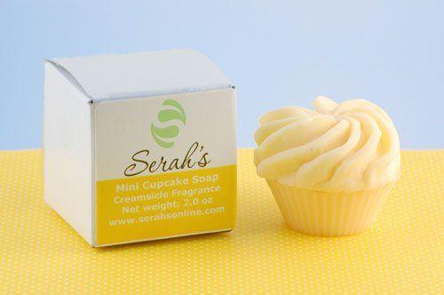 Mini Yellow Cupcake Soap