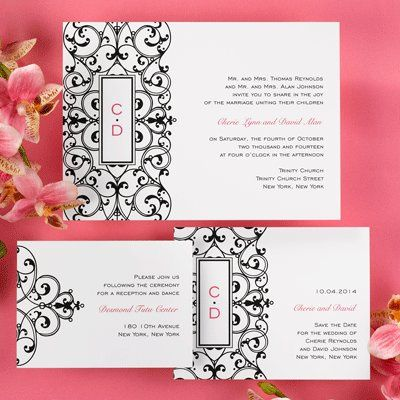 Tmx 1318111059625 CS42C5Flr Lake Oswego wedding invitation