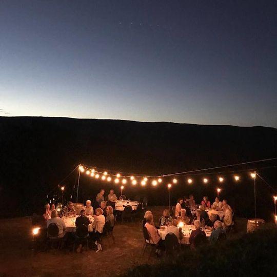 Sunset reception setup